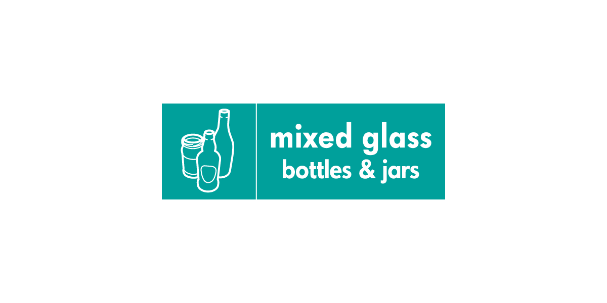 mixed glass bottles and jars - WRAP icon