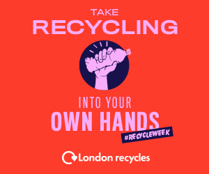 "Artwork for Recycle Week 2019 - ""Take Recycling into your own Hands"""
